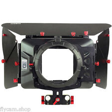 Pro Matte Box Sunshade for 15mm Rod Camera DSLR Rig follow focus  +Filter Trays