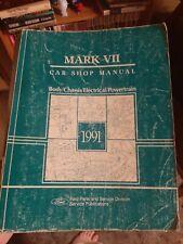 1991 Lincoln Mark Vii 7 Original Factory Service Manual Shop Repair
