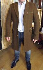 HOLLAND Esquire Mix di lana di qualità in Tweed Cappotto Giacca Taglia M