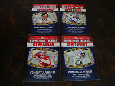 2011 Topps Football--Super Bowl Legends Giveaway--Lot Of 4--Multi-Lots--See List