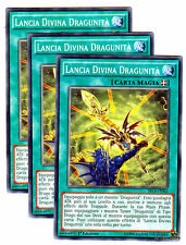 Set 3X LANCIA DIVINA DRAGUNITA' SECE-IT062 Comune in Italiano YUGIOH