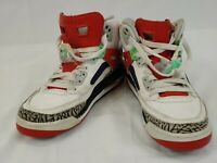 Nike Air Jordan Spizike BG Sports Shoes White Multi-Color Size 6Y 317321-132