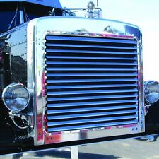 Peterbilt 379 Extended Hood 1993-2007 Louvered Grill Stainless Steel 16 Bars