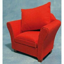 Dolls House Miniature 1:12th Scale Modern Red Armchair