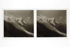 Mont-Blanc France Photo E43 Stereo Plaque de verre 1927