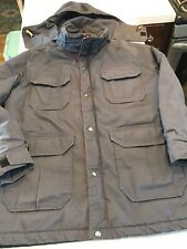 Vtg 80s WOOLRICH Mountain Parka Insulated M Gray USA Made Hood Jacket Coat