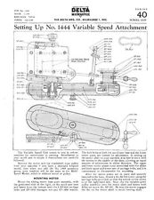 Delta Rockwell Setting Up No. 1444 Variable Speed Attachment Instructions