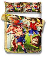 One Piece Catch 3D Printing Duvet Quilt Doona Covers Pillow Case Bedding Sets