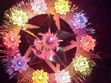 vintage Bradford 11 light lighted Star Tree Topper very nice condition!