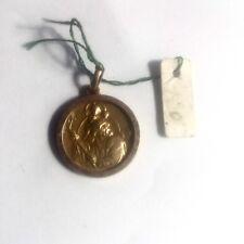 Medaille Saint Christophe Plaqué Or Neuf D'ancien Stock de Bijouterie