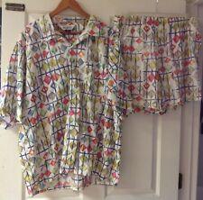 Vintage Porto Cervo Men's Canada Beach Sail Shirt Trunks Shorts Outfit Set *Rare