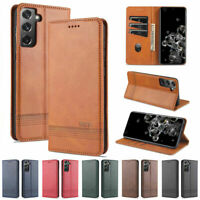 Case For Samsung Galaxy S8 S9 S10 S20 S21 Ultra S20 FE Leather Flip Wallet Cover