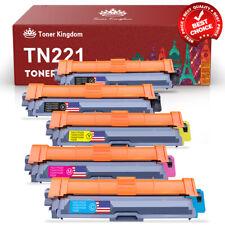 5Pk TN225 TN221 BK Color Toner Set For Brother HL-3140CW MFC-9130CW MFC-9330CDW