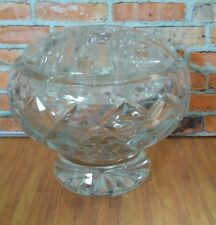 Glass Posy Vase / Ornament with Frog - Crystal Clear Glass