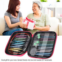 13 Size Multi Coloured Aluminium Crochet Hooks Yarn Knitting Needles Set 26 Pcs