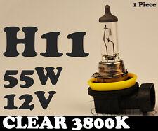 1 x H11 12V 55W Clear Yellow 3800k Halogen Car Head Light Fog Lamp Globes Bulbs