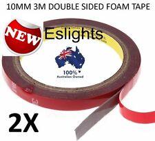 2X 3M HIGH STRENGTH DOUBLE SIDED FOAM STICKY TAPE STRIP LIGHT 10MM 5050 5630