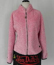 Hot Chillys Jacket Fuzzy Pink Full Zip Pockets Size M/L