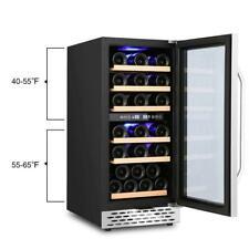 15 inch Wine Cooler Refrigerator| Compressor Wine Bottle Chiller | Dual Zones