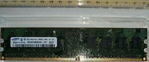 1GB RAM Samsung M378T2863QZS-CF7 PC2-6400 DDR2-800MHz 240-Pin DIMM Memory