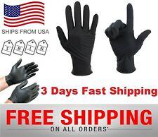 New listing 100Black Nitrile Exam Gloves Powder-Free (Latex Vinyl Free)Medium