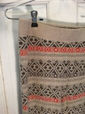 New FREE PEOPLE Nordic Fair Isle  THICK LEGGINGS PANTS Wool Blend WAIST SZ M