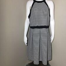 Forever 21+ Women's 2x Plus Size Dress Racerback Zippered Sleeveless Stripes