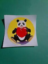 vintage 80's Lisa Frank panda bear sticker *restored*(free ship $20 min)