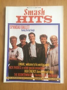 SMASH HITS June 84 Spandau, Ultravox, Scritti Politti,Marc Almond,Associates VGC