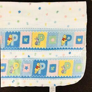 "VIntage Disney Winnie the Pooh Piglet Receiving Blanket Baby Cotton 30 x 36"""
