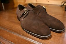 Edward Green Mink Suede Last 888 Monk Strap Dress Shoes Size 10.5 11 D England