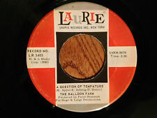 """BALLOON FARM (7""""/45rpm) Question of Tempature (w/mispell), Laurie LR3405, 1967"""
