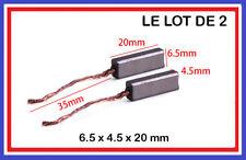 Lot 2 Balais de Charbon 4.5 x 6.5 x 20 mm Moteur perceuse outillage electroporta