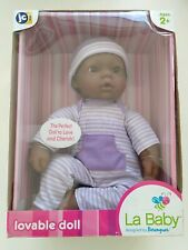 JC Toys, La Baby 16-inch African American Washable Soft Baby Doll with Ba... New