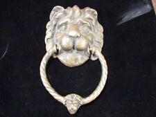 00004000 Original Vintage Large double Lion head Door Knocker solid brass or Bronze
