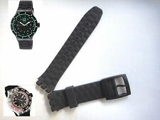 21mm Black Rubber Silicon strap band bracelet suuk400 STORMY fits Swatch watch