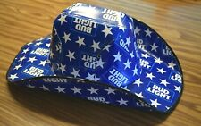 Bud Light Cardboard Beer Box Cowboy Hat 4th of July