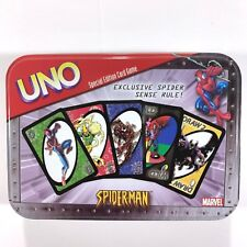 Spiderman UNO Card Game New Sealed Cards In Tin Case