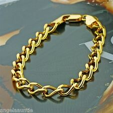 18K Yellow Gold Filled Curb Chain Bracelet (B-273)