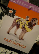Dog TAXI DRIVER Costume XL NEW Pet DOG IS TAXI CAB Plush Animal Drives! 1pc