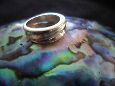 VINTAGE MOD SOLID STERLING MODERNIST BAND RING SIZE 5 DESIGNER RING