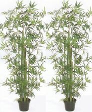 2 ARTIFICIAL 6' PALM TREE PLANT ARRANGEMENT SILK BAMBOO PATIO BUSH FLOWER FLORAL