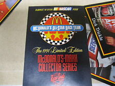 McDONALDS MAXX NASCAR ALL STAR RACE TEAM 1991 CARD SET UNUSED RACE CARDS