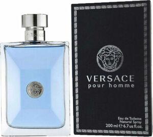 Versace Pour Homme 200ml/ 6.7 Oz Men's Eau De Toilette Spray Brand New Sealed
