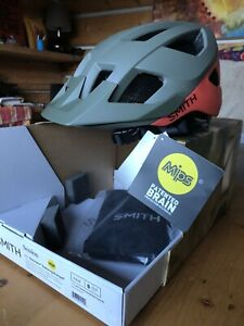 Smith Session MIPS Bike Helmet - Small (51-55) / Matte Sage/Red Rock