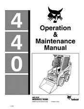 New Bobcat 440 Skid Steer Loader Operation Maintenance Manual 6566475 Free S&H