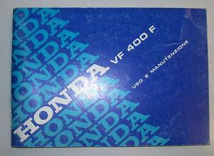 HONDA VF 400 F LIBRETTO USO E MANUTENZIONE