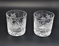 More details for stuart crystal cascade fuchsia whiskey tumblers 8oz x 2 glasses
