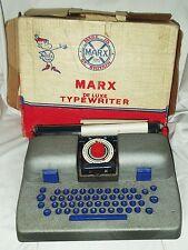 "VINTAGE ""Marx Toys"" bambini macchina da scrivere. 1950's / 60's. Boxed. Made in GB."
