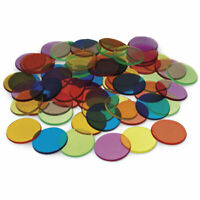 Transparent Counters by Learning Resources Set of 250 - 2cm/6 colours